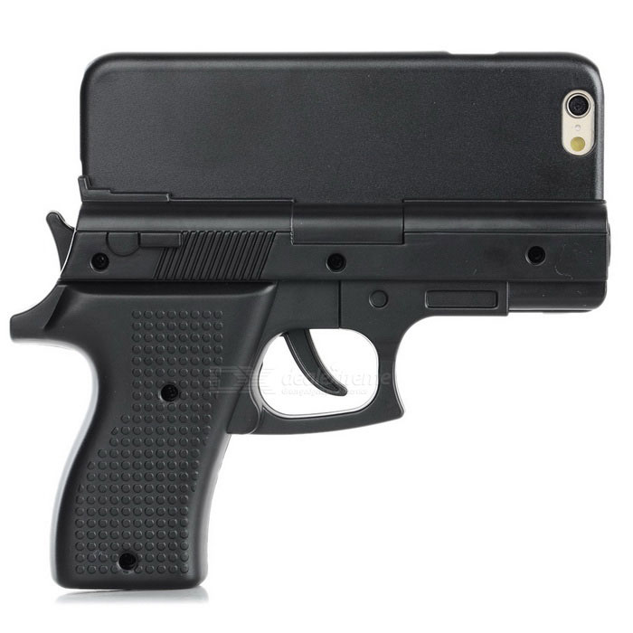 gun iphone case gun shape protective plastic back cover for iphone 6 10751