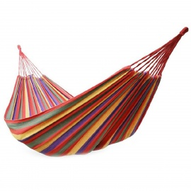 Portable-Outdoor-Camping-Hiking-Canvas-Swing-Hammock-Red-2b-Blue