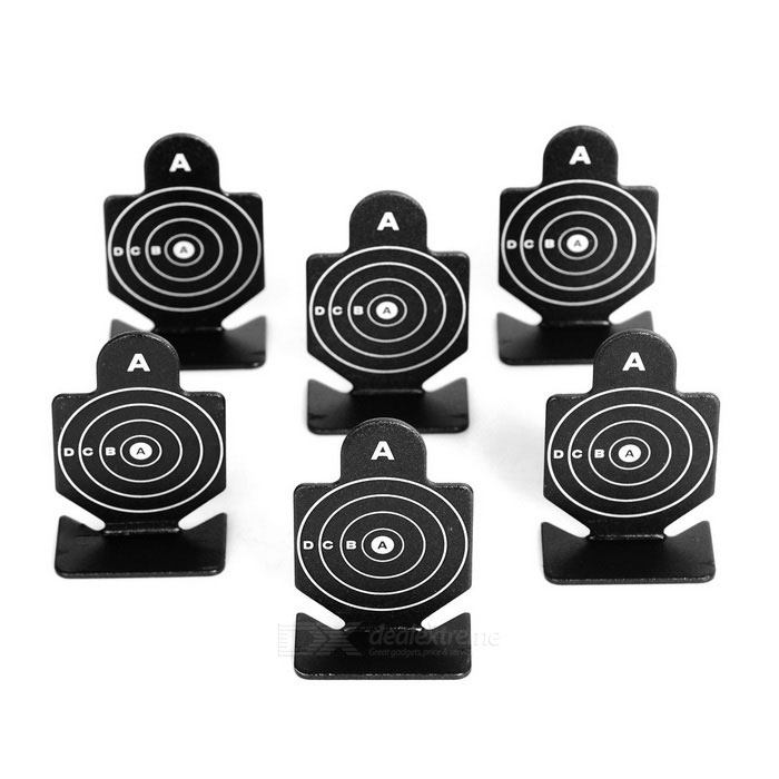 Aluminum Alloy Shooting Practice Targets for BB Gun - Black (6PCS)Other Accessories<br>Form ColorBlack + WhiteMaterialAluminum alloyQuantity6 DX.PCM.Model.AttributeModel.UnitPacking List6 x Shooting targets<br>