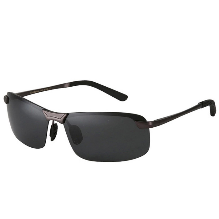 Buy Reedoon Men's Professional UV400 Protection Driving Goggles - Gun Gray with Litecoins with Free Shipping on Gipsybee.com