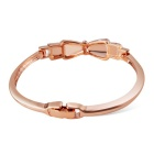 Women's Simple Butterfly Knot Style Crystal Bracelet - Rose Golden