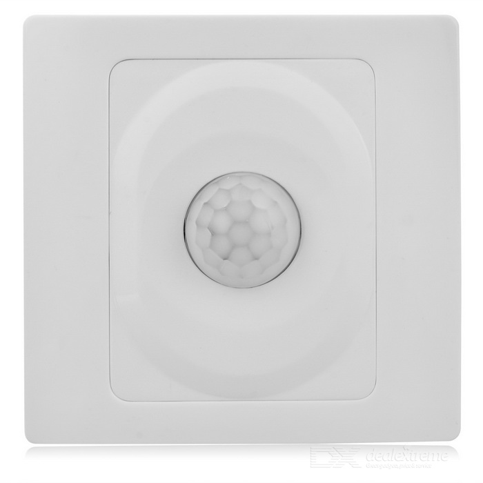 Three-Wire System Wall Mount Inductive Switch - White (180~240V)