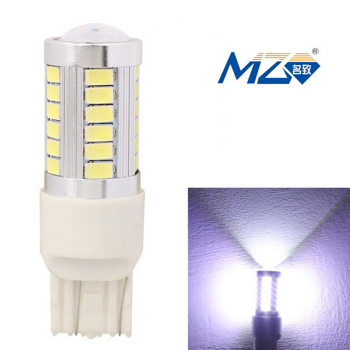 MZ T20 16.5W White 33-LED Car Brake / Daytime Running Light (12~24V)Fog Lights<br>Color Temperature6500K - T20 (2-Wire)ModelN/AQuantity1 DX.PCM.Model.AttributeModel.UnitMaterialAluminumForm ColorSilverCompatible Car ModelUniversalRate Voltage12~24VPowerOthers,16.5WColor BINWhiteTheoretical Lumens1155 DX.PCM.Model.AttributeModel.UnitActual Lumens990 DX.PCM.Model.AttributeModel.UnitConnector TypeOthers,T20Emitter TypeLEDChip BrandOthers,N/AChip Type5630 LED SMDTotal EmittersOthers,33Color Temperature6500 DX.PCM.Model.AttributeModel.UnitWaterproof FunctionNoApplicationBrake light,Daytime running lightPacking List1 x LED light<br>