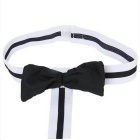 Men's Sexy Waiter Butler Suspender Mankini Lingerie - Black + White