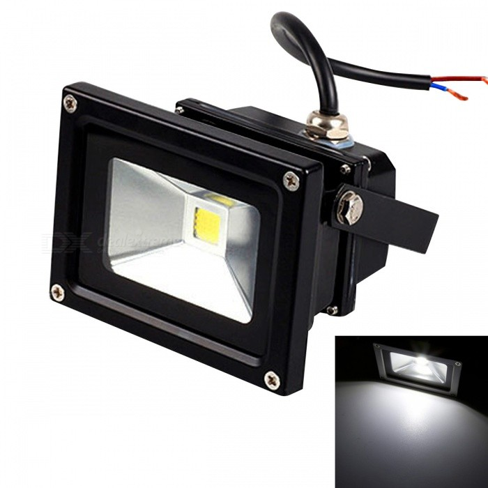 JIAWEN Waterproof 10W LED Floodlight White Light 6500K 800lm - BlackFloodlights<br>Form  ColorBlackColor BINWhiteMaterialAluminumQuantity1 DX.PCM.Model.AttributeModel.UnitWaterproof LevelIP65Power10WRated VoltageDC 12 DX.PCM.Model.AttributeModel.UnitEmitter TypeCOBTotal Emitters1Theoretical Lumens650~800 DX.PCM.Model.AttributeModel.UnitActual Lumens650~800 DX.PCM.Model.AttributeModel.UnitColor Temperature12000K,Others,6000~6500KDimmableNoBeam Angle120 DX.PCM.Model.AttributeModel.UnitOther FeaturesPower cord: 30+/-2cmPacking List1 x LED floodlight<br>