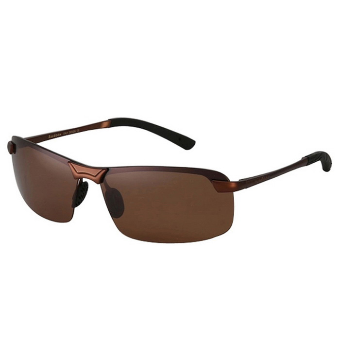 Buy ReeDoon Men's Resin Lens Polarized Driving Sunglasses - Tan with Litecoins with Free Shipping on Gipsybee.com