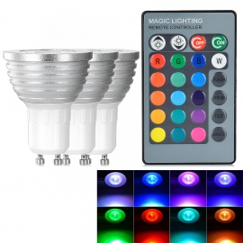 GU10-3W-LED-Spotlight-Lamp-RGB-Light-w-Remote-(3PCS)