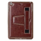 Handheld Retro Protective TPU Back Case w/ Stand for IPAD MINI - Brown