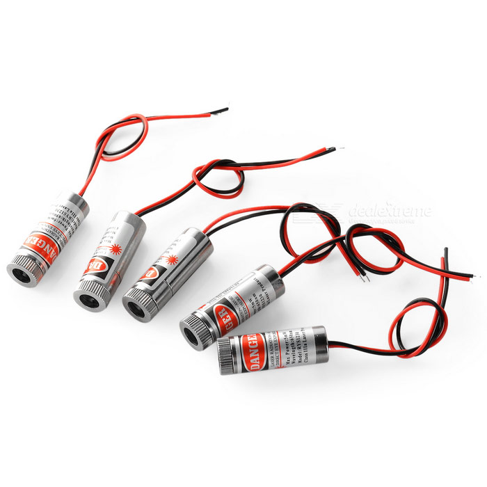 JR 12mm 5mW 650nm Red Laser Head (5PCS / DC 3~4.2V)