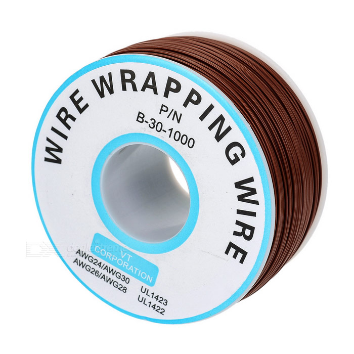 0.5mm Width High Temperature Resistance Jump Wire - Brown (250m)DIY Parts &amp; Components<br>BrandNOQuantity1 DX.PCM.Model.AttributeModel.UnitForm ColorOthers,BrownMaterialPlastic + metalEnglish Manual / SpecNoOther FeaturesLength: 250m; Width: 0.5mmCertificationNoPacking List1 x Reel of wire<br>