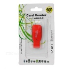 USB 2.0 Micro SD / TF Card Reader - Red + Black (Max. 32GB)