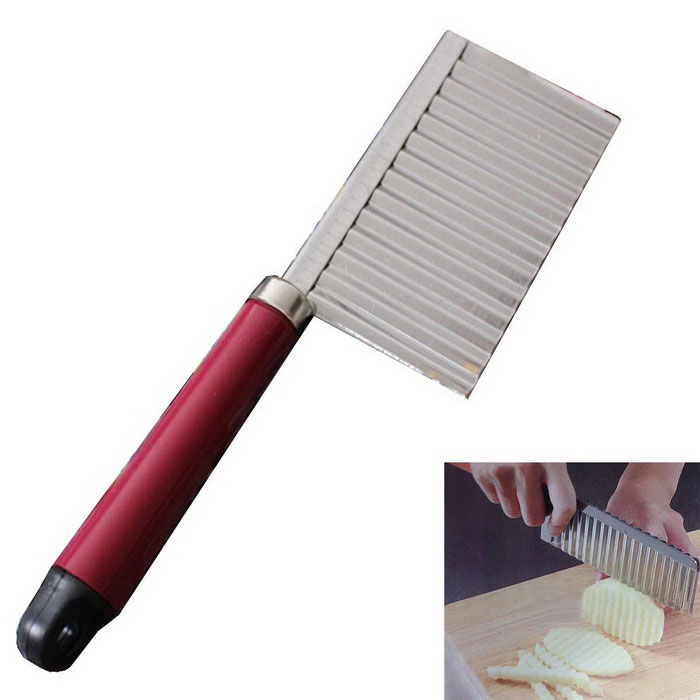 Buy Multi-functional Ripple Potatoes Shredder Slicer Tool - Silver + Black with Litecoins with Free Shipping on Gipsybee.com
