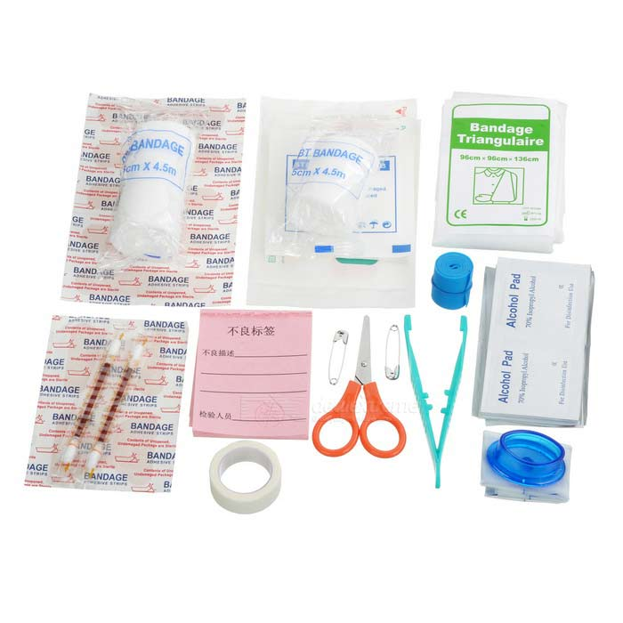 21-in-1 Outdoor Medical First-aid Kit - Multicolored