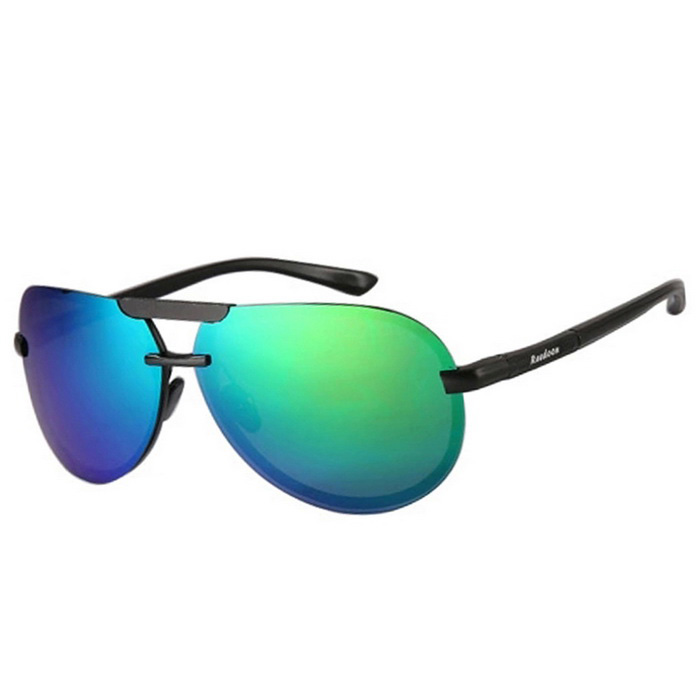 Buy Reedoon 2223 Polarized UV400 Resin Lens Sunglasses - Black + Green with Litecoins with Free Shipping on Gipsybee.com