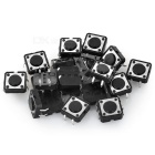 12 x 12 x 4.3mm Key Tact Switches Set - Black (20PCS)