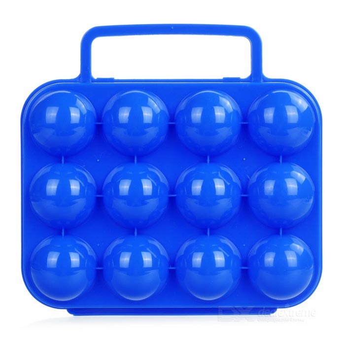 Plastic 12 Eggs Carrier Container Storage Box Case for Picnic - BlueForm  ColorBlueQuantity1 DX.PCM.Model.AttributeModel.UnitMaterialPPBest UseFamily &amp; car camping,CampingTypeCooking UtensilsOther FeaturesNet weight: 160g; Gross weight: 200g; Folded dimensions: 20 x 15 x 7cm; Good for outdoor camping and picnic.Packing List1 x Eggs storage case<br>