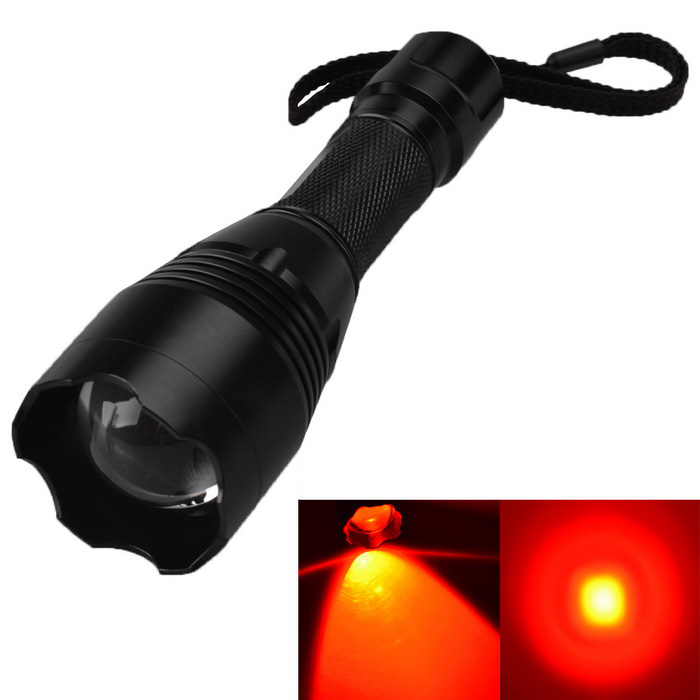 RichFire SF-360R CREE XPE R2 N4 300lm 3-Mode Red Zooming LED Flashlight