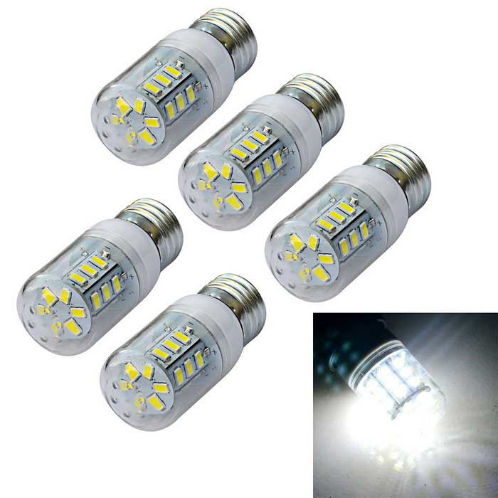 E27 4W Cold White/Warm White  Light 24-SMD 5730 LED Corn Cob Bulb (AC 220V/ 5 PCS)
