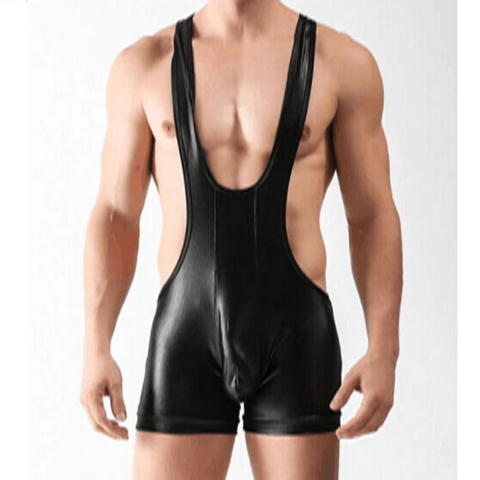 Buy Men's High Waist Harness One-Piece Sexy Lingerie - Black (M) with Litecoins with Free Shipping on Gipsybee.com