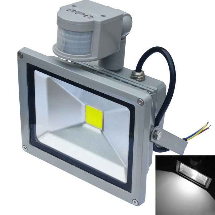 JIAWEN Waterproof 6500K LED Human Body IR Induction Floodlight - GreyFloodlights<br>Form  ColorGreyColor BINWhiteMaterialAluminumQuantity1 DX.PCM.Model.AttributeModel.UnitWaterproof GradeIP65Power20WRated VoltageAC 85-265 DX.PCM.Model.AttributeModel.UnitConnector TypeOthers,wiringEmitter TypeCOBTotal Emitters1Theoretical Lumens1600-1700 DX.PCM.Model.AttributeModel.UnitActual Lumens1600-1700 DX.PCM.Model.AttributeModel.UnitColor Temperature12000K,Others,6000-6500KDimmableNoBeam Angle120 DX.PCM.Model.AttributeModel.UnitOther FeaturesPower cord: 30cm±2cmPacking List1 x LED floodlight<br>