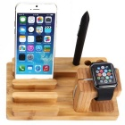 Creative Bamboo Holder for APPLE IWATCH / IPHONE - Brown