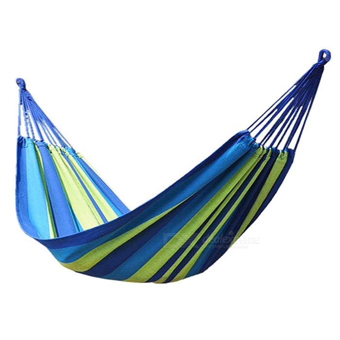 Portable Thickened Outdoor Camping Canvas Swing Hammock - Blue (100kg)