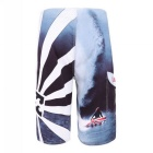Men's Printed Quick-Drying Polyester Beach Shorts - Dark Blue (Size 34)