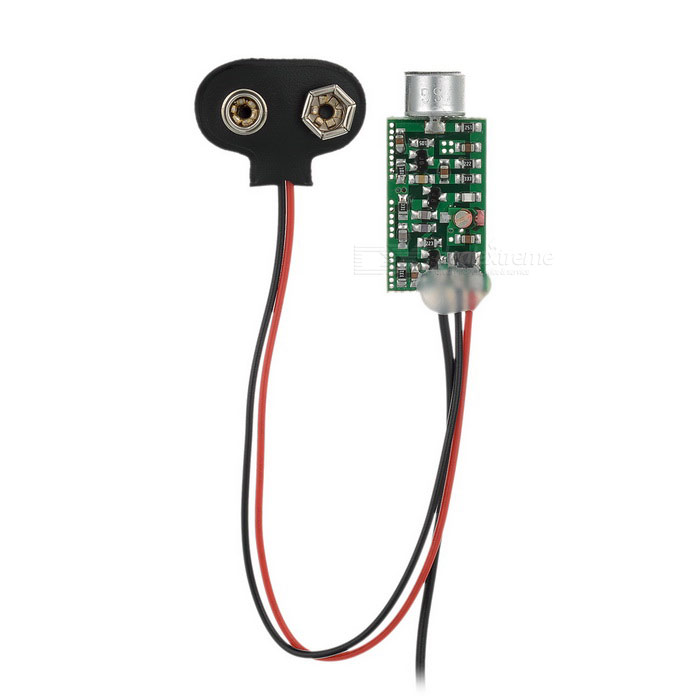 Mini Aluminium Alloy FM Transmitter - Black + Multi-ColoredTransmitters &amp; Receivers Module<br>Form ColorBlack + MulticolorMaterialAluminium alloyQuantity1 DX.PCM.Model.AttributeModel.UnitPower Supply3mA 1.2V / 25mA 9VOther FeaturesPower by 9V Battery (not included); Broadcast more than 100 hours; Frequency range: 60~128MHz.Packing List1x Mini FM transmitter (85+/-2cm-cable / 16+/-2cm-cable)<br>