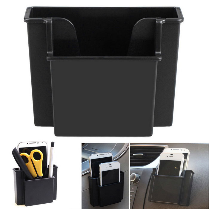 Universal Car Glove Storage Case Box for Car Air Vent - BlackCar Holders and Organizer<br>Form ColorBlackModelN/AQuantity1 DX.PCM.Model.AttributeModel.UnitMaterialABSShade Of ColorBlackTypeBagUsing WayHanging TypeMax. Load500 DX.PCM.Model.AttributeModel.UnitPacking List1 x Storage box2 x Double-sided adhesive tapes2 x Long clips2 x Short clips<br>