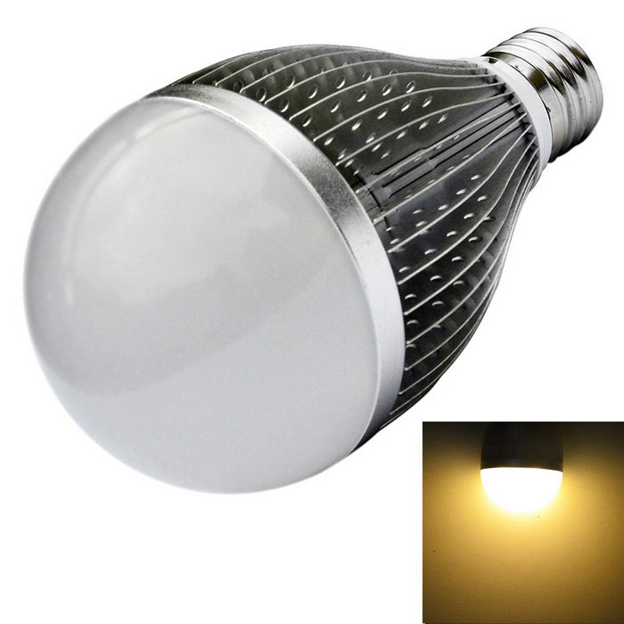 JIAWEN E27 9W LED Bulb Warm White 3200K 810lm - Silver (AC 110~240V)E27<br>Form  ColorSilverColor BINWarm WhiteMaterialAluminum alloyQuantity1 DX.PCM.Model.AttributeModel.UnitPower9WRated VoltageOthers,AC 110~240 DX.PCM.Model.AttributeModel.UnitConnector TypeE27Emitter TypeLEDTotal Emitters9Theoretical Lumens720~810 DX.PCM.Model.AttributeModel.UnitActual Lumens720~810 DX.PCM.Model.AttributeModel.UnitColor Temperature12000K,Others,3000~3200KDimmableNoBeam Angle180 DX.PCM.Model.AttributeModel.UnitPacking List1 x LED light<br>