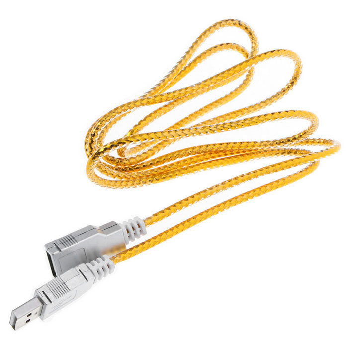 USB 2.0 Male to Female Flat Extension Cable Wire - Golden (140cm)Computer Cable&amp;Adapter<br>Form ColorGoldenQuantity1 DX.PCM.Model.AttributeModel.UnitShade Of ColorGoldMaterialPlasticInterfaceUSB 2.0Powered ByUSBTypeLaptopsCompatible BrandAPPLE,Dell,HP,Toshiba,Acer,Lenovo,Samsung,MSI,Sony,IBM,Asus,Thinkpad,HuaweiCompatible ModelUniversalTransmission Rate480 DX.PCM.Model.AttributeModel.UnitSupports SystemWin xp,Win 2000,Win 2008,Win vista,Win7 32,Win7 64,Win8 32,Win8 64,MAC OS X,Linux,Android 2.x,Android 4.x,Others,UniversalPacking List1 x Cable<br>