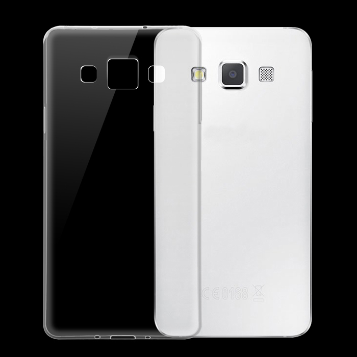 Ultra-Thin TPU Back Cover Case for Samsung Galaxy A3 - Transparent
