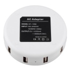 SY-129B EU Plug 6-USB AC Charger for IPHONE + More - White