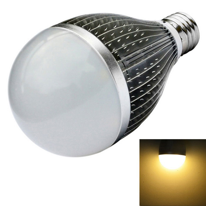 JIAWEN E27 9W 9-LED Dimmable Ball Light Warm White 810lm - SilverE27<br>Form  ColorSilverColor BINWarm WhiteMaterialAluminum alloyQuantity1 DX.PCM.Model.AttributeModel.UnitPower9WRated VoltageOthers,AC 110-240 DX.PCM.Model.AttributeModel.UnitConnector TypeE27Emitter TypeLEDTotal Emitters9Theoretical Lumens0-810 DX.PCM.Model.AttributeModel.UnitActual Lumens0-810 DX.PCM.Model.AttributeModel.UnitColor Temperature12000K,Others,3000-3200KDimmableYesBeam Angle180 DX.PCM.Model.AttributeModel.UnitPacking List1 x LED Light<br>