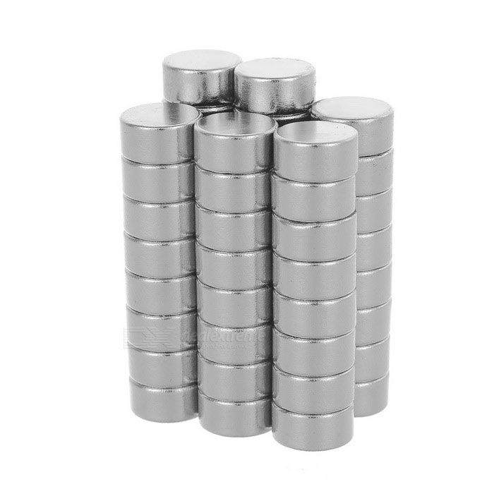 10*5mm Cylindrical NdFeB Magnet - Silver (50PCS)
