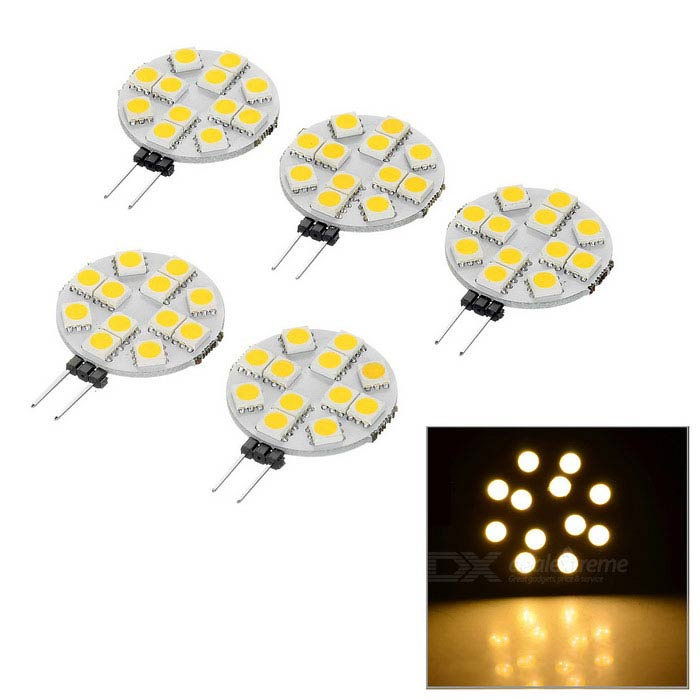 G4 3W LED Emitter Board Car Reading Lamps Warm White 3200K 60lm (5PCS)