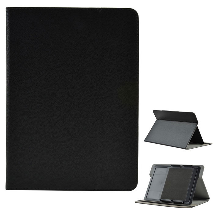 "Universal Lychee Pattern PU Case w/ Stand for 10"" Tablet - Black"