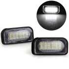 Qook White 18-LED SMD License Plate Light Bulb for BENZ W203 4D Sedan
