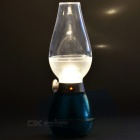 LED Blowing Control Dimmable Kerosene Lamp Style Night Lamp - Blue