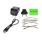 X6A-C 1 to 6 Charger + TOL Adapter + Data Cable + More Kit- Green