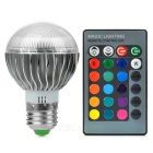 JRLED 3-in-1 E27 3W RGB LED Blub Set - Silver (AC 85~265V)