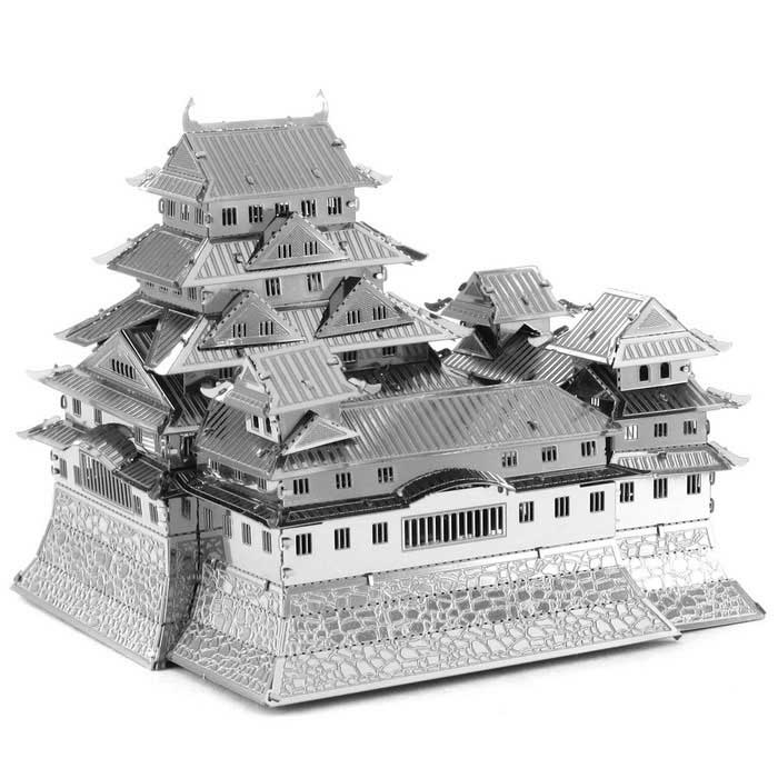 Creative 3D Laser Models Himeji Castle Grandvrio Hotel Puzzle - SilverBlocks &amp; Jigsaw Toys<br>Form ColorSilverMaterialMetalQuantity1 DX.PCM.Model.AttributeModel.UnitNumber3Size7.0cm x 6.8cm x 6.5cmSuitable Age 8-11 years,12-15 years,Grown upsPacking List1 x Metal Model (3PCS/Set)1 x English user manual<br>