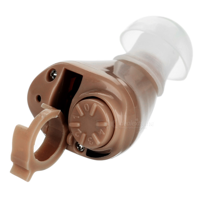 Buy In-Ear Hidden Sound Enhancement Amplifier Hearing Aid - Light Brown with Litecoins with Free Shipping on Gipsybee.com