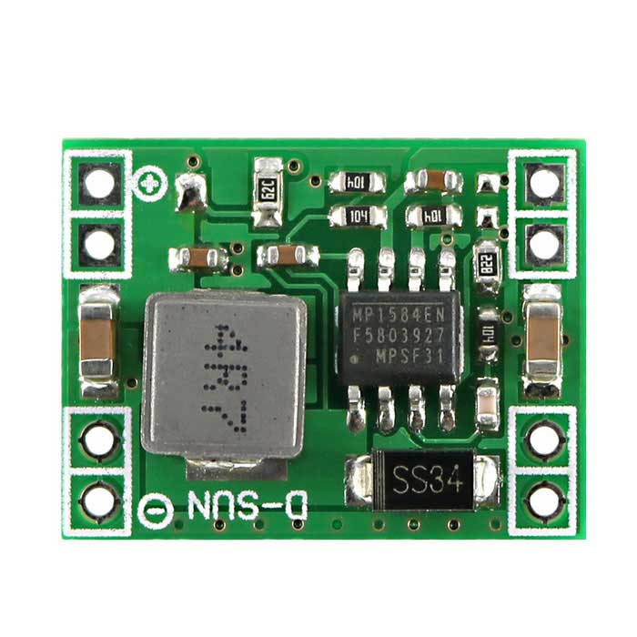 Buy Mini DC 7~28V to DC 5V Step-Down Converter Power Supply Module with Litecoins with Free Shipping on Gipsybee.com