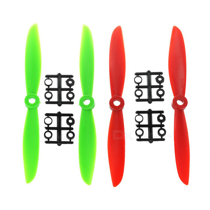Replacement Nylon 6045 CW & CCW Propellers Set - Red + Green + Black