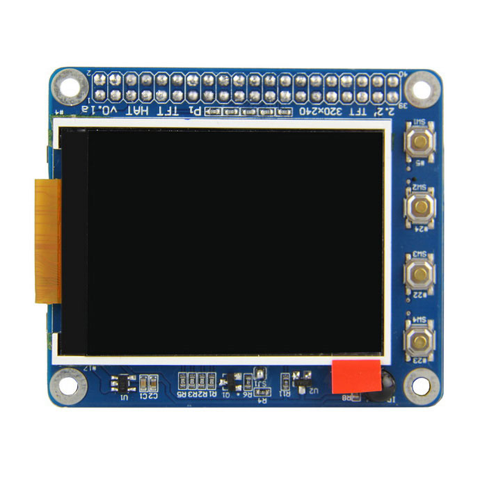 High PPI 2.2 inch TFT Display Shield for Raspberry Pi 3B / 2B / B+ /A+