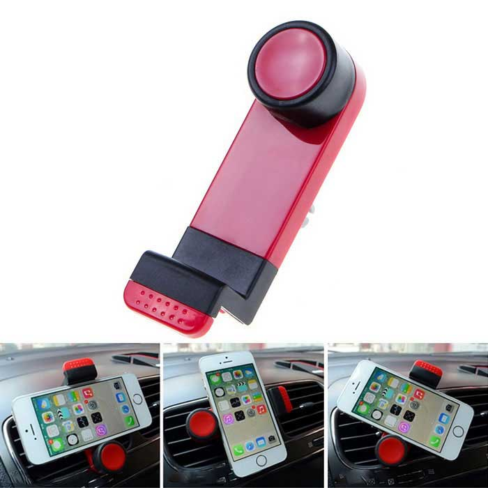 360 Rotating Car Air Vent Mount for Mobile Phone - Red + BlackMounts &amp; Holders<br>Form  ColorRed + BlackQuantity1 DX.PCM.Model.AttributeModel.UnitMaterialABS + siliconeShade Of ColorRedCompatible ModelsIPHONE 5S,IPHONE 5C,IPHONE 5,IPHONE 4,IPHONE 4S,IPHONE 3GS,IPHONE 3GCompatible Size4~9 DX.PCM.Model.AttributeModel.UnitMount TypeCar MountRotation360 DX.PCM.Model.AttributeModel.UnitWith ChargerNoPacking List1 x Holder<br>