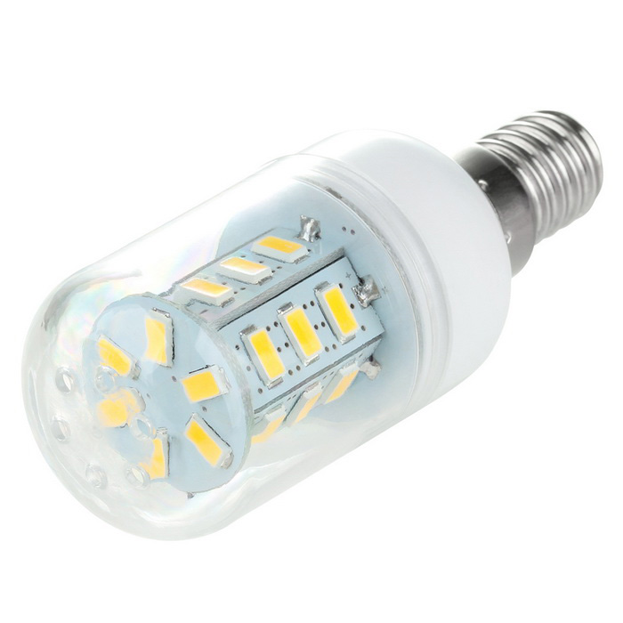 E14 2.5W LED Corn Lamp Warm/Cold White Light 300lm 3500K 24-SMD (AC 110V)