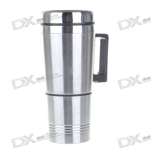 Electric Stainless Steel Car Kettle with Car Charger - 200ml (24V/120W)