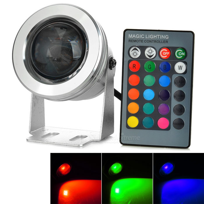 Buy 10W RGB LED Dimmable Colorful Light w/ Remote for Fish Tank (12V ) with Litecoins with Free Shipping on Gipsybee.com